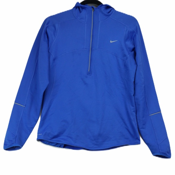 Nike dry fit half zip athletic pullover with hood